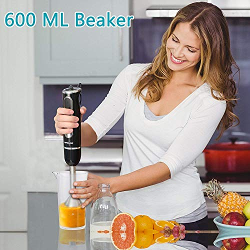 Amazon.com: OPOLAR 4-in-1 Stick Immersion Blender, Variable 8 Speed Control, 500 Watt Powerful Hand-held Blender Mixer with Food Chopper, Stainless Steel ...