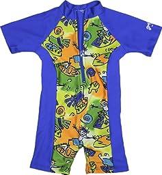 grUVywear UV Sun Protective (UPF 50+) Baby 1 piece Hang Ten Swimsuit 0-6 Months