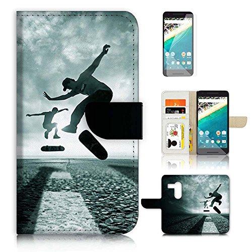 Skis Skiboards (( For Google Nexus 5X ) Flip Wallet Case Cover & Screen Protector Bundle! A20375 Ski Board)