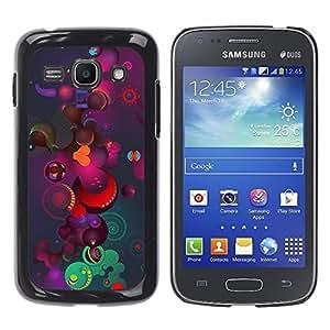 Qstar Arte & diseño plástico duro Fundas Cover Cubre Hard Case Cover para Samsung Galaxy Ace 3 III / GT-S7270 / GT-S7275 / GT-S7272 ( Pattern Art Cosmos Universe Colorful Planets)
