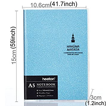 Cuaderno Creative Simple Design coloré Mode goma protectora ...
