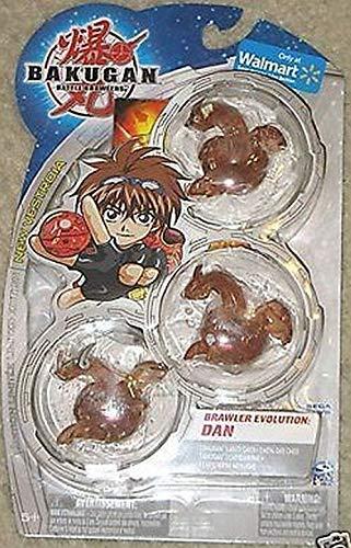 Bakugan Battle Brawlers Evolution Dan Brown Translucent Dragonoid, Apolinor, Neo Dragonoid 3 Pack (Brawlers Battle Bakugan Toys)