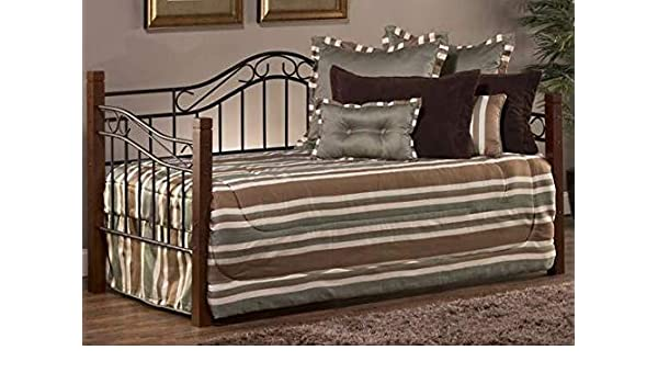 Amazon.com: Daybed Frame Twin - Black Metal Frame Cherry ...