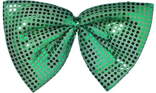 Amscan 318656 St. Patrick's Day Giant Green Sequin Bow Tie | Party Accessory