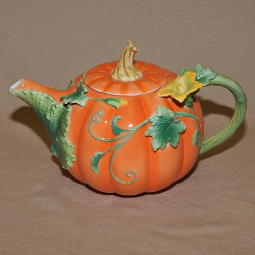 Pumpkin Decorated Teapot by Winrose