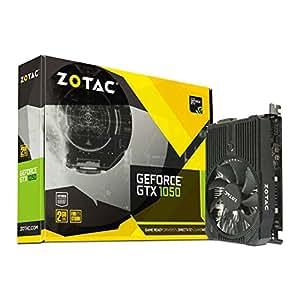 ZOTAC GeForce GTX 1050, 2GB GDDR5 DisplayPort, HDMI, Dual-Link DVI-I, Super Compact Gaming Graphics Card (ZT-P10500A-10L)