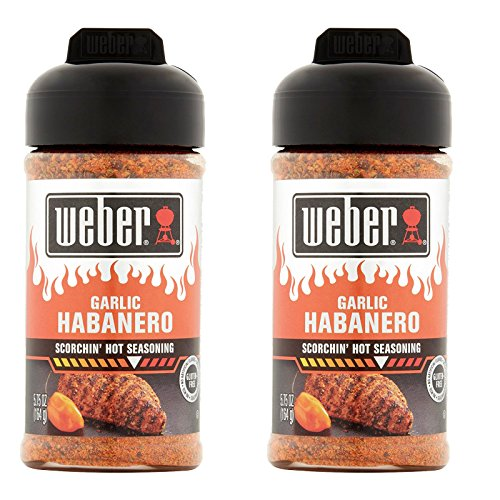 Garlic Habanero Pepper - Weber Garlic Habanero Scorchin` Hot Seasoning 5.75 Ounces (Pack of 2)