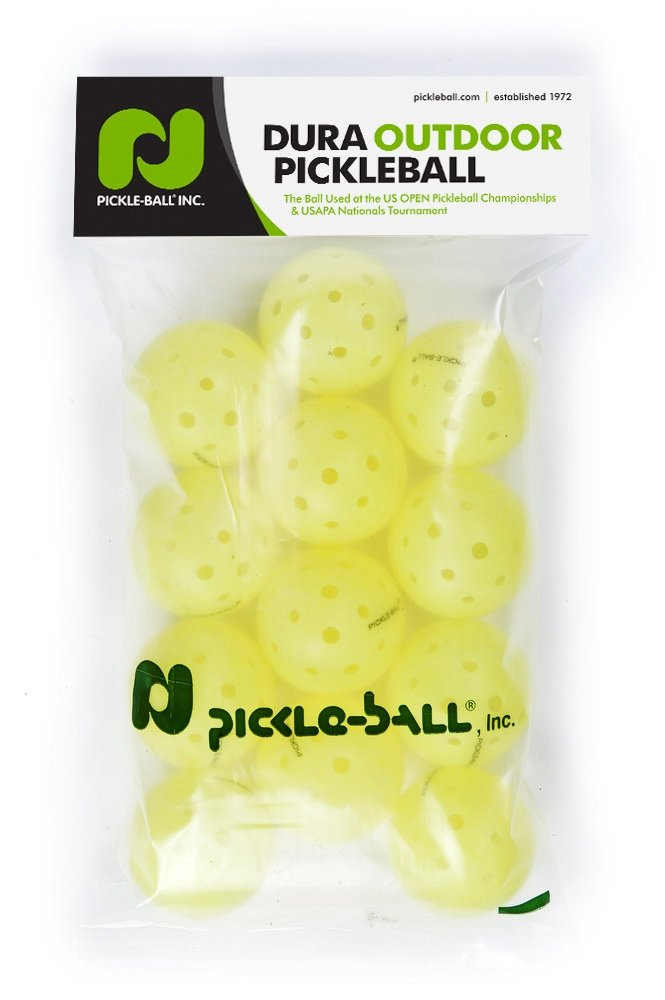 Dura Fast 40 Pickleballs | Outdoor pickleball balls | Yellow | Dozen/Pack of 12 | USAPA Approved and Sanctioned for Tournament Play, Professional Perfomance by Pickle-Ball