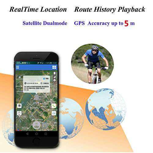 TKSTAR Bike GPS Tracker Alarm with LED Tail Light Waterproof Worldwide Realtime GPS Locator Mini Smart LED light Hidden Motor Bicycle GPS Tracking Device 25 Days Long Battery Life FREE APP by TKSTAR (Image #5)