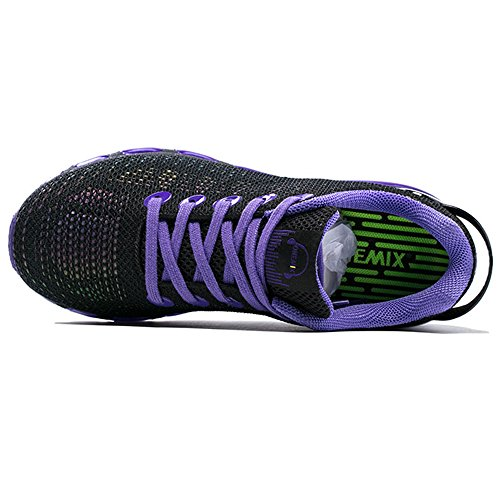 Onemix Womens Casual Air Sneakers Colorful Reflections Athletic Sports Running Shoes Purple