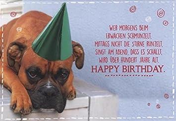 Geburtstagskarte Lustig Hund Gluckwunschkarte Geburtstag Wer