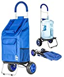 dbest products Trolley Dolly, Blue  Shopping Grocery Foldable Cart