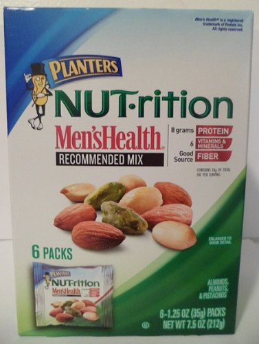 Planters Nut-rition Men's Health 6-1.25 Oz Net Wt 7.5 Oz (Pack of 4 (Health Nut)