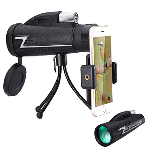 Ciysty 16X50 High Power Prism Monocular and Quick Smartphone Holder -Daily Splash and Shockproof -BAK4 Prism FMC for Bird Watching Hunting Camping Travelling Wildlife