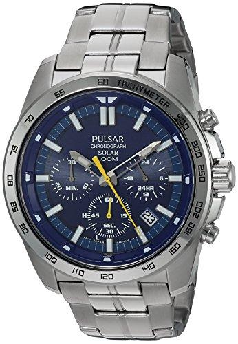 - Pulsar Men's Quartz Stainless Steel Dress Watch, Color: Silver-Tone (Model: PZ5001)