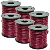 6PK 5lb .095 Round Red Commercial Trimmer Line Spool Fit Echo RedMax Stihl