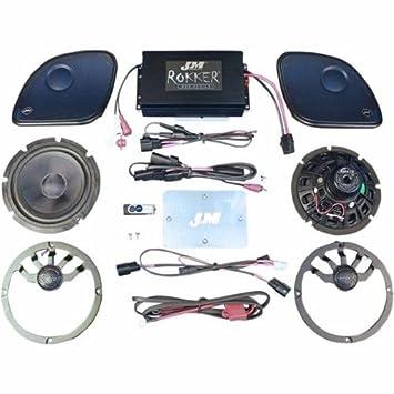 JM Audio Rokker Extreme 2 Speaker Amp Kit 2015 Up Harley Davidson Road