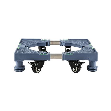 NYDZ Base móvil Multifuncional Ajustable con 4 Ruedas giratorias de Goma con Bloqueo y 4 pies