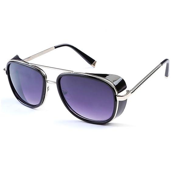94d35cac25 ... Montura : Negro Mate - Lentes : Fotocromáticas (90000.6): Amazon.es:  Deportes y aire libre. Deylay Steampunk Gafas de sol Hombre Mujer Mirrored  Glasses ...