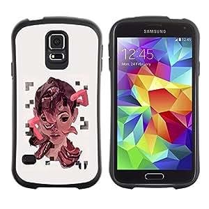Suave TPU GEL Carcasa Funda Silicona Blando Estuche Caso de protección (para) Samsung Galaxy S5 / CECELL Phone case / / Puzzle Art Cubism Kid /