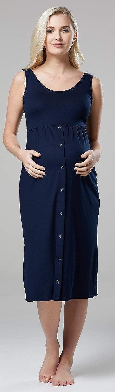 HAPPY MAMA Mujer Maternidad Camis/ón Abotonado Pijamas Sin Mangas 542p