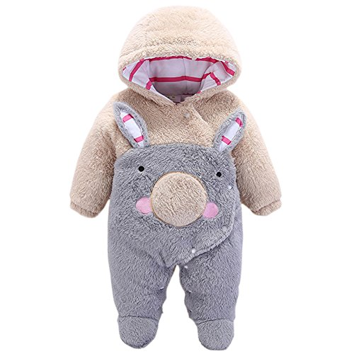JIANLANPTT Baby Snowsuit Winter Romper Cartoon Newborn Sleeper Fancy Costume-Grey Koala Bear 4-6months]()
