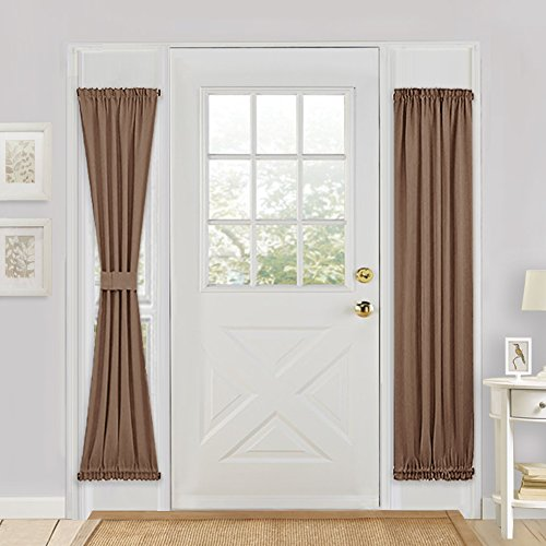 Solid Grommet Window Curtain Foam Lined Coffee - 7
