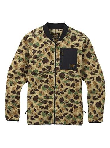 Burton Men's Grove Full-Zip Fleece, Duck Camo Jacquard, - Active Duck Fleece Jacket