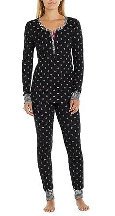 37705539cf0b ane   Bleecker Ladies Thermal Pajama SetBLACK MEDIUM at Amazon ...