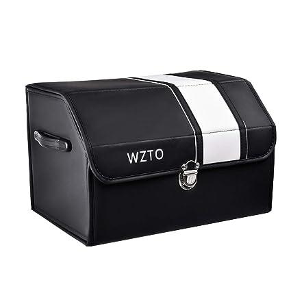 WZTO Organizador Maletero Coche Impermeable Plegable Bolsa Maletero Coche con asa Portable Durable Organizador Universal Fácil de Limpiar