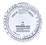 "proportion wheel - Westcott 6"" Proportional Measuring Scale, White, PS-79"