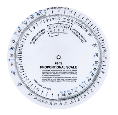 "Westcott 6"" Proportional Measuring Scale, White, PS-79"