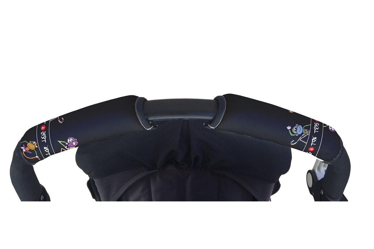 empu/ñadura funda protector manillar modelo Monitos Tris /& Ton conjunto colchoneta silla paseo Trisyton protector arneses Black