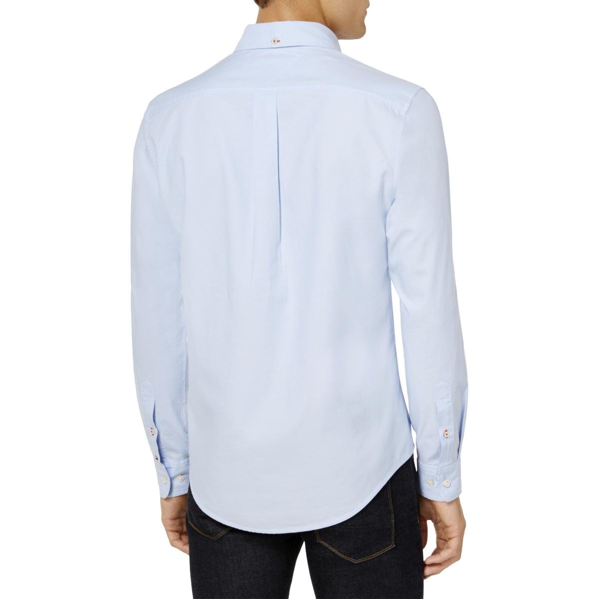 Tommy Hilfiger Mens Embroidered Button Up Shirt