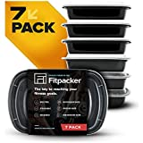 Fitpacker Meal Prep Containers - Portion Control Lunch Box (PACK OF 7)