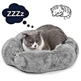 Cat Bed, Legendog Deluxe Cozy Comfortable Suede Pet Bed, Detachable Washable Pet Bed for Cats Dogs with Cushion, Quality Sleeping Nest for Small Animals