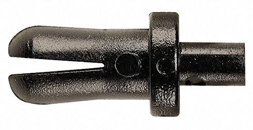 Expanding Push In Rivet, Plastic L, 0.188'', Black