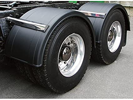 "Poly FenderBlack Fits 19.5/"" Dual Rear Wheels"