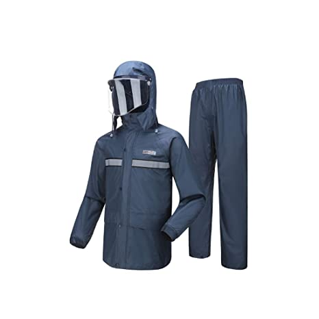 WEIFAN-raincoat Traje Impermeable para Hombres/Mujeres ...
