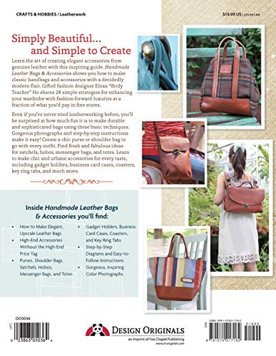 Handmade Leather Bags & Accessories (Design Originals) 28 Simple Strategies to Enhance Any Wardrobe; Step-by-Step…