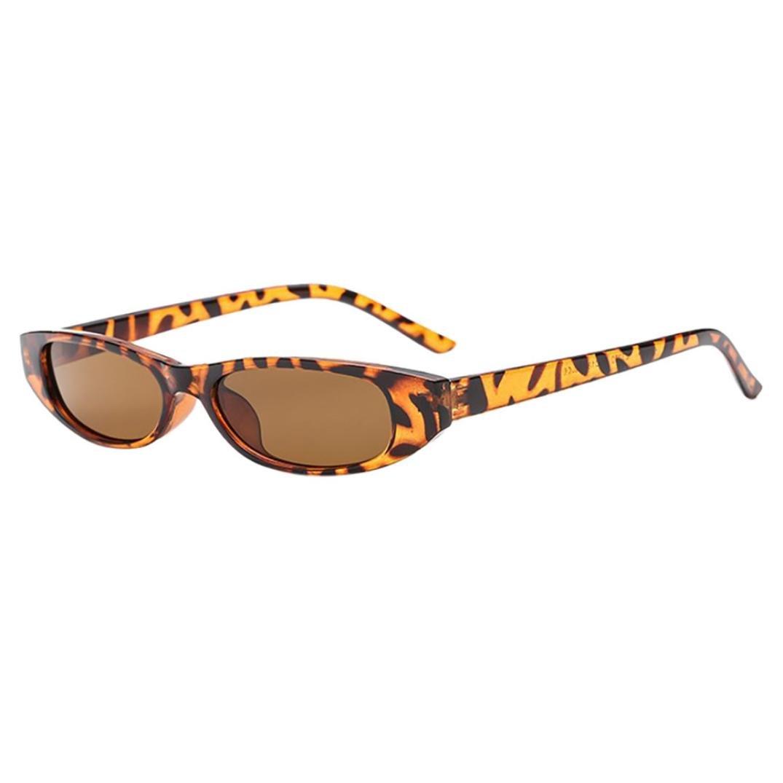 2018 Sunglasses,Sunfei  Retro Vintage   Clout Cat Rapper Oval Shades Grunge Glasses Unisex Sunglasses (B)