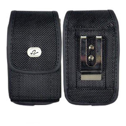 Vertical Heavy Duty Rugged Canvas Case w/ Metal Belt Clip for Sonim XP7 XP7700-Auction4tech Brand
