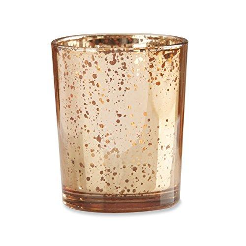 Kate Aspen Copper Mercury Glass Tealight Holder (Set of (Kate Aspen Glass Candle)
