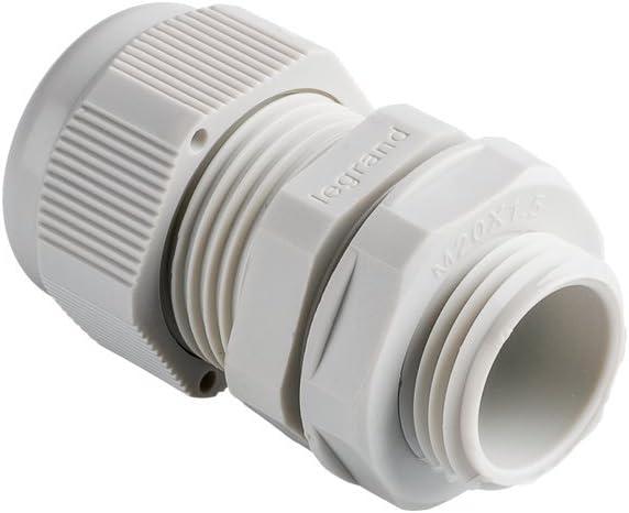 Legrand 096803e connecteur Presse-/étoupe de Polyamide Couleur Filetage Standard iSO 16 Gris Serrage Entre 10/et 14/mm