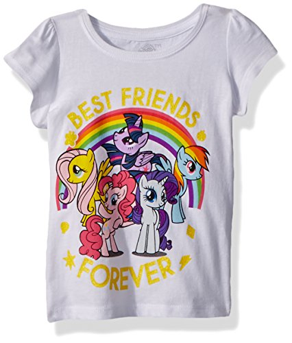 My Little Pony Girls' Toddler MLP Best Friends, White, 5T -