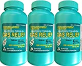 Simethicone 80 mg Anti-Gas Mint Flavor Chewable Tablets Generic for Mylanta Gas, Gas-X Regular For Fast Relief of Acid Indigestion Heartburn Sour Stomach Gas and Bloating 100 Chewable Tablets per Bottle Pack of 3 Bottles Total 300 Tablets