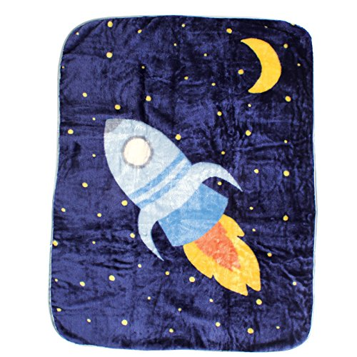 Luvable Friends Character High Pile Blanket, Space Ship