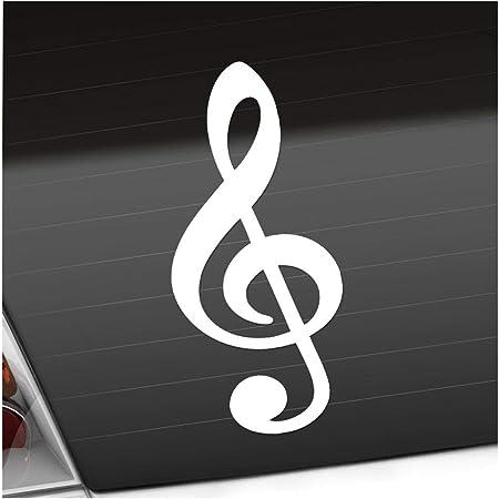 Violinschlüssel Notenschlüssel 9 X 20 Cm In 15 Farben Neon Chrom Sticker Aufkleber Auto
