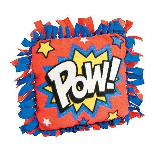 Fun Express - Superhero Fleece Tied Pillow CK-6 - Craft Kits - Home Decor Craft Kits - Pillows & Throws - 6 Pieces [並行輸入品] B07TDW69JQ