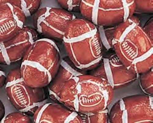 Foiled Milk Chocolate Footballs 5LB Bag by The Nutty Fruit House